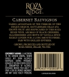 2010 Roza Ridge Cabernet Back