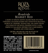 2010 Roza Ridge Roadside Red Back