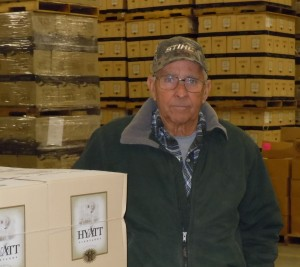 Winery Owner Leland Hyatt in Winery Warehouse