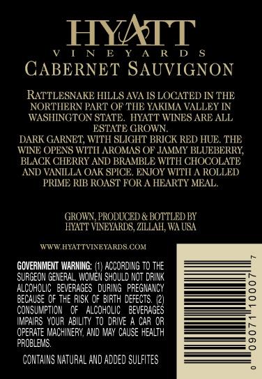 2010 Cabernet Back