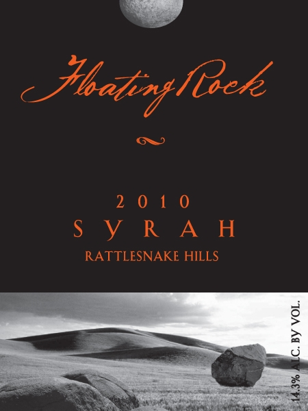 2010 Floating Rock Syrah Front