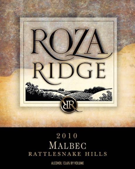 2010 Roza Ridge Malbec Front