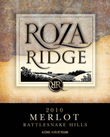 2010 Roza Ridge Merlot Front