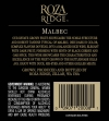 2010 Roza Ridge Malbec Back