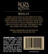 2010 Roza Ridge Merlot Back