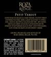 2010 Roza Ridge Petit Verdot Back