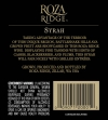 2010 Roza Ridge Syrah Back