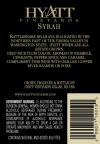 2010 Syrah Back