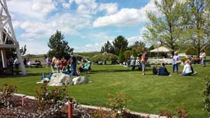 Beautiful summer days see lots of winery visitors enjoying the sun